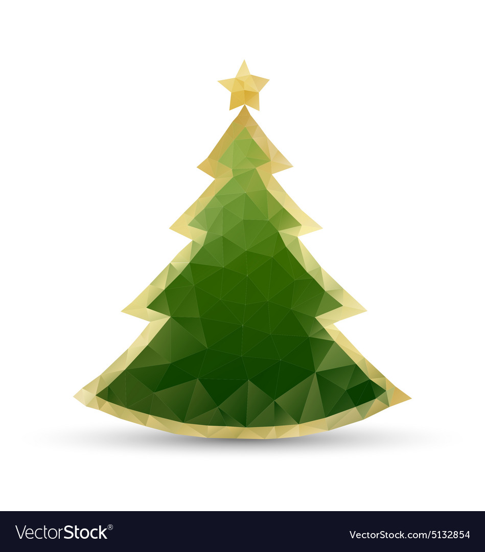 Simple christmas tree vector