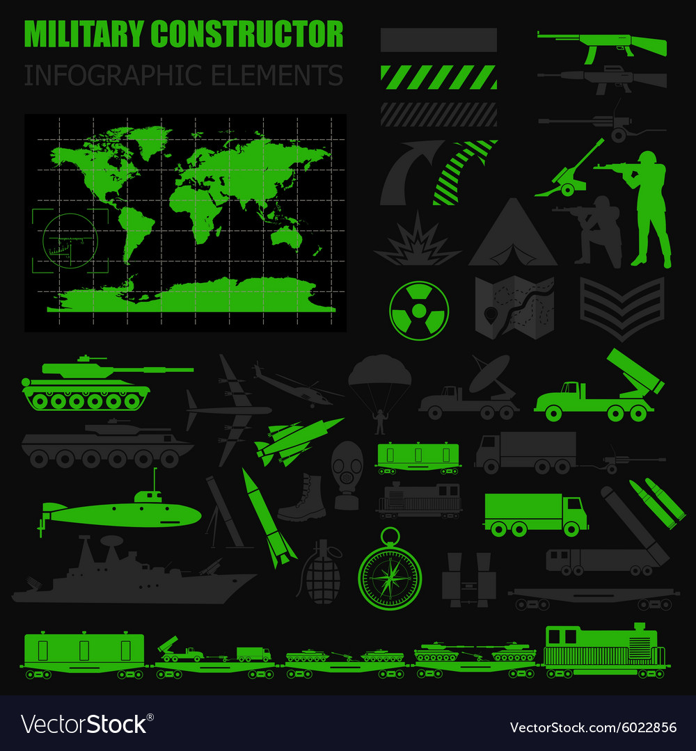 Military infographic template with top powe vector
