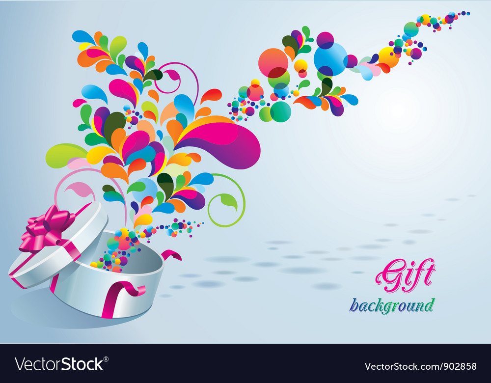 Beautiful gift background vector