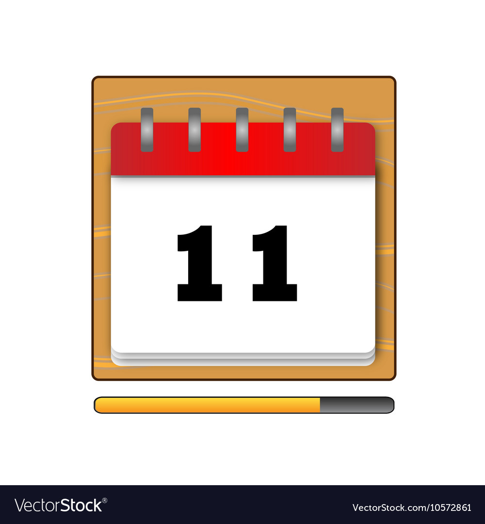 On the eleventh day in the calendar vector