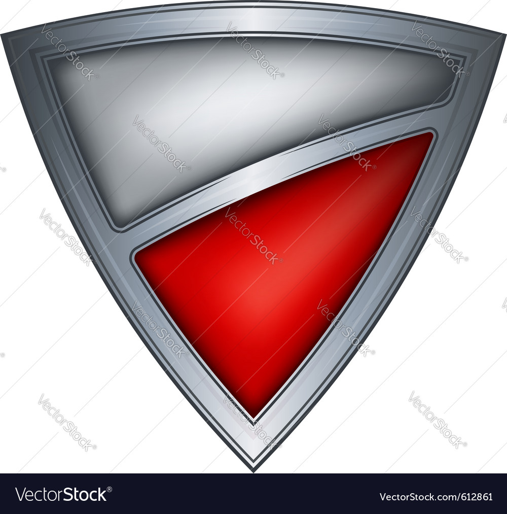 Steel shield with flag poland vector