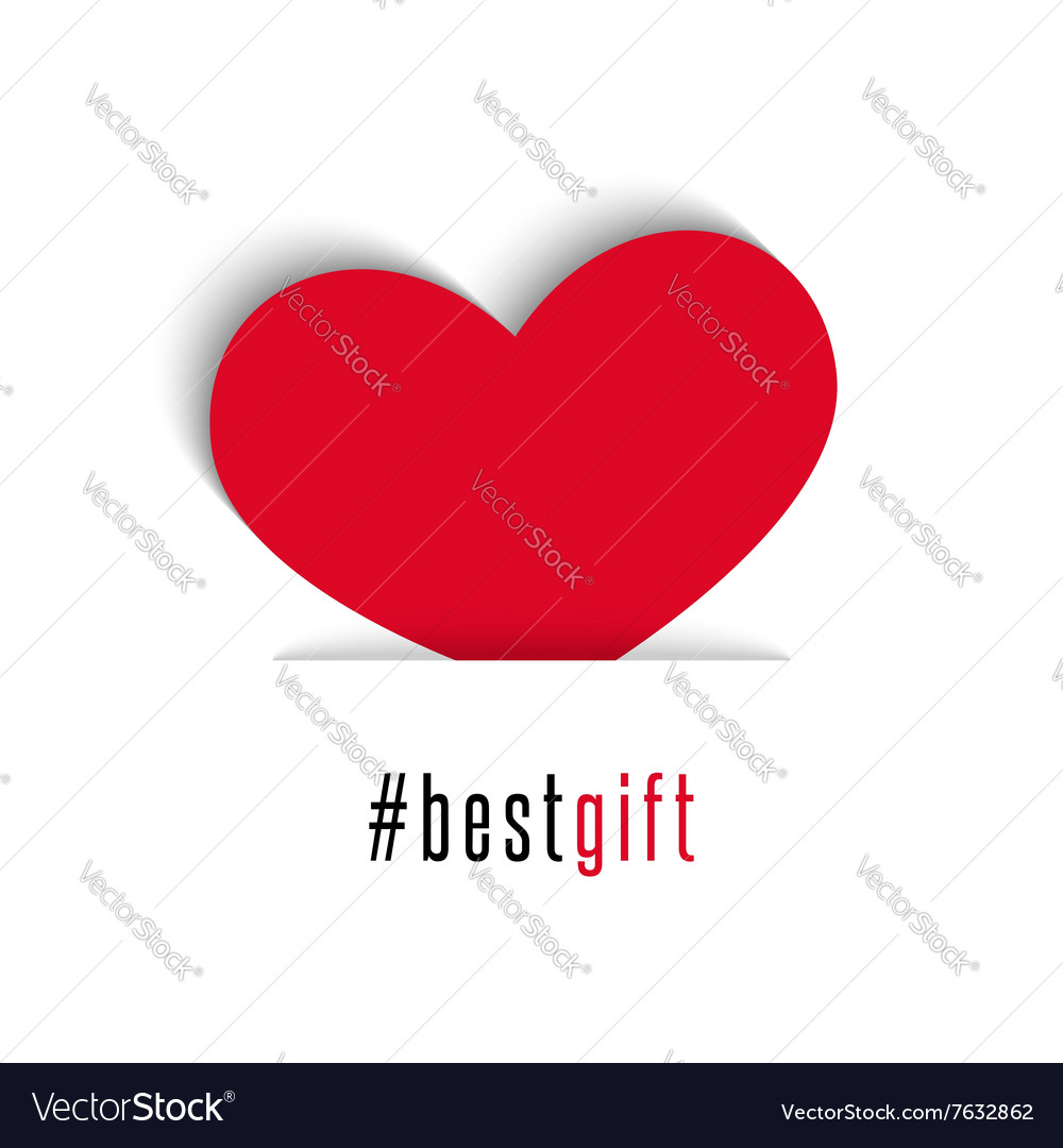 Valentines day card red heart holiday symbol all vector