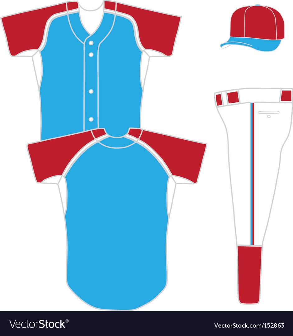 Baseball uniform vector