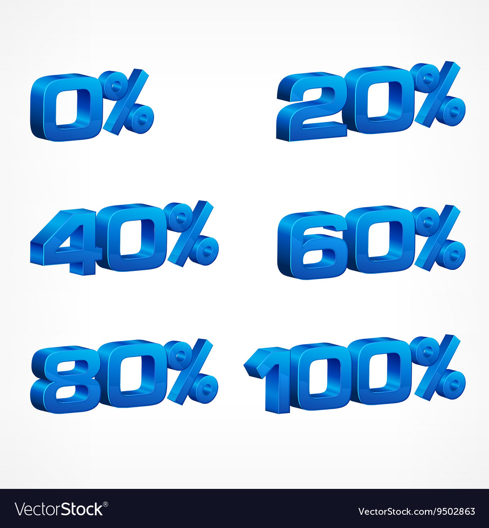 Percentage numbers vector