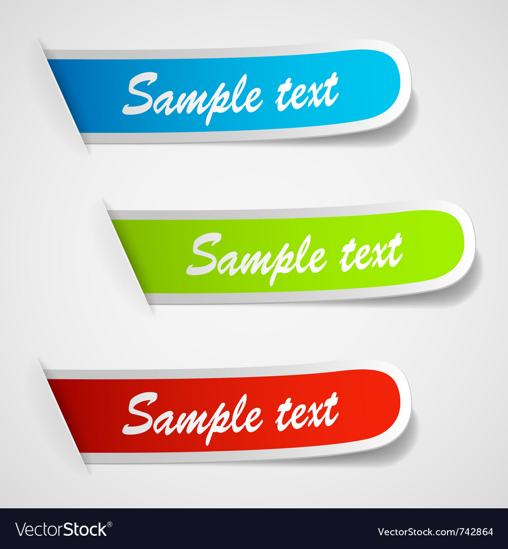 Sticker labels vector