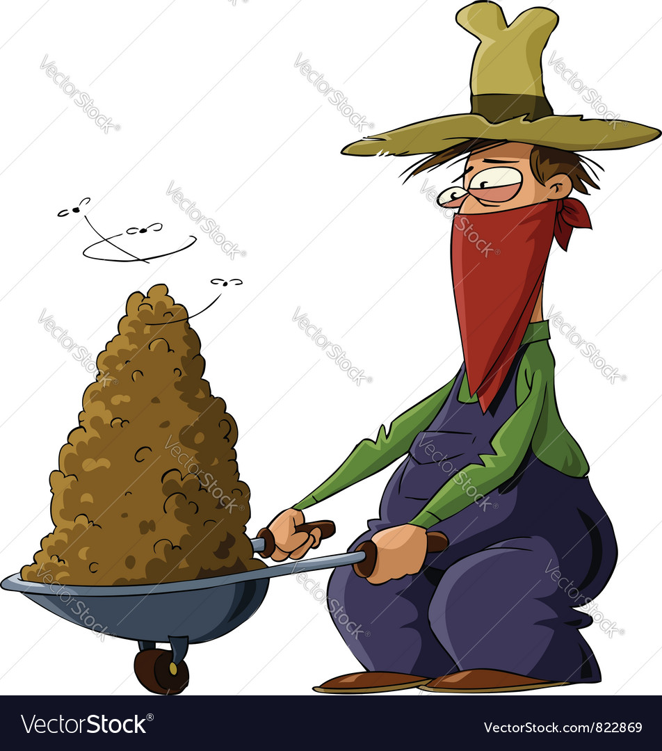 Man with manure vector