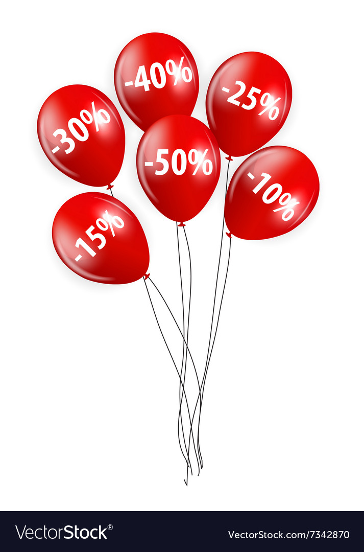 Sale balloon sign vector