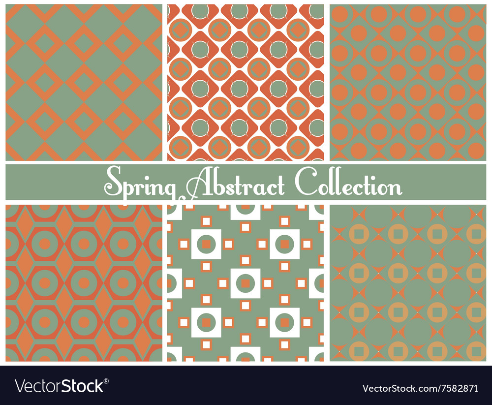 Collection of bright abstract patterns vector