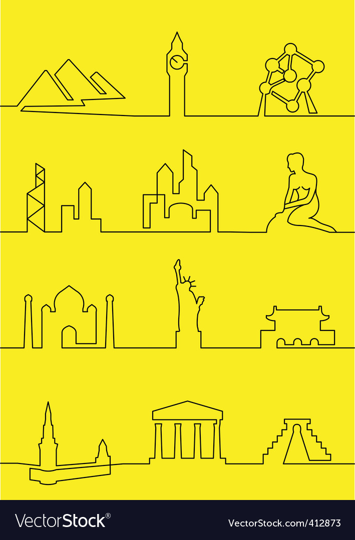 Cities of the world vector