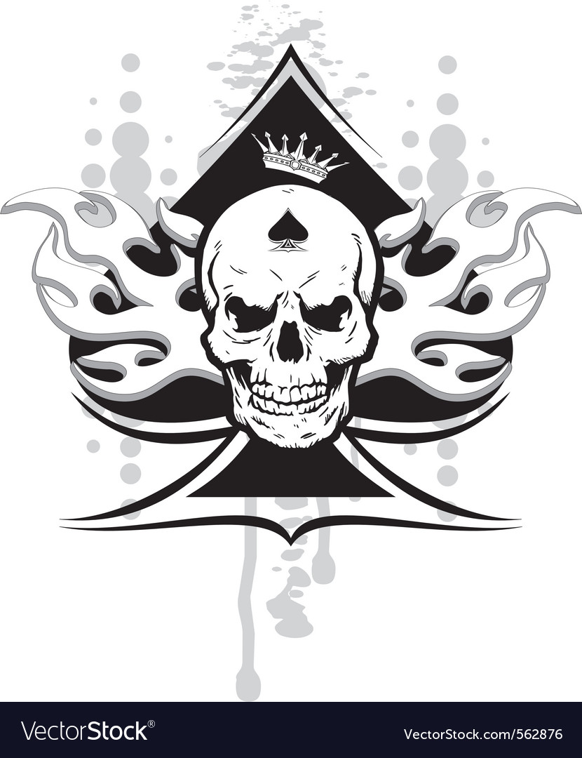 Ace of spades skull vector