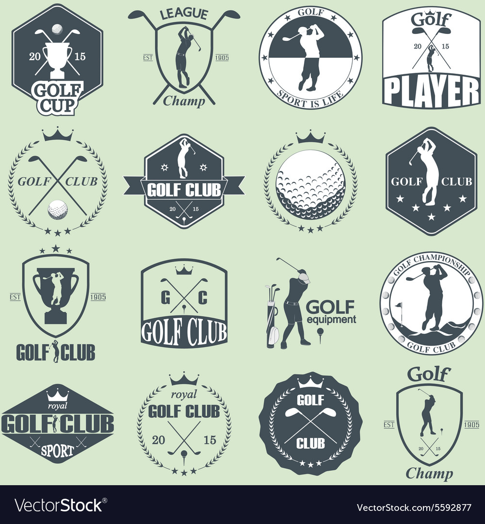 Golf labels vector