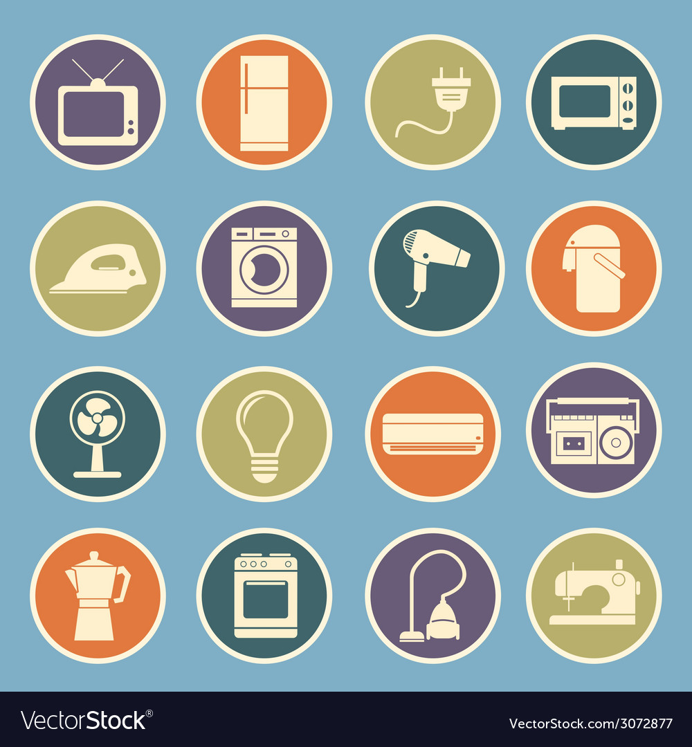 Home appliances icon vector