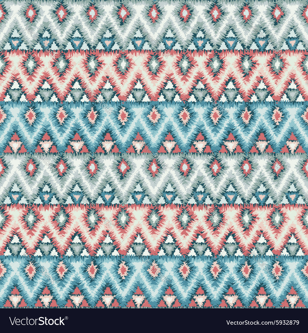 Ethnic zigzag tribal seamless pattern vector