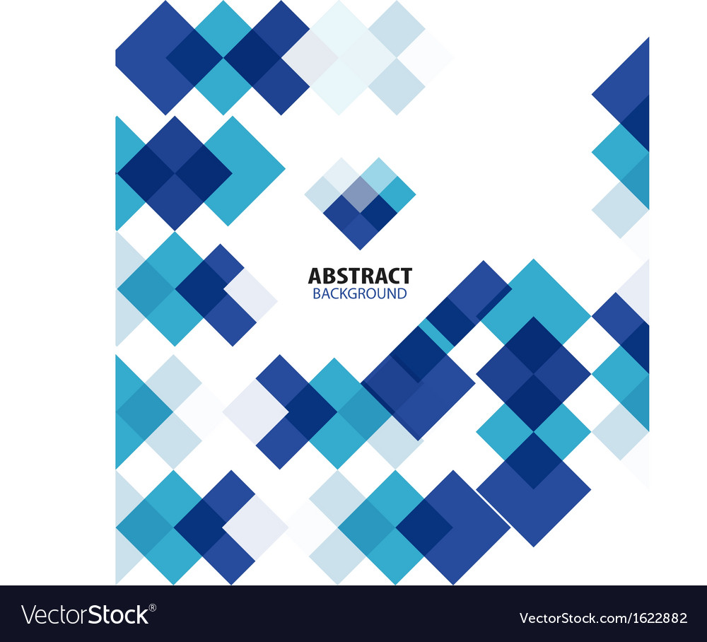 Square blue geometrical abstract background vector