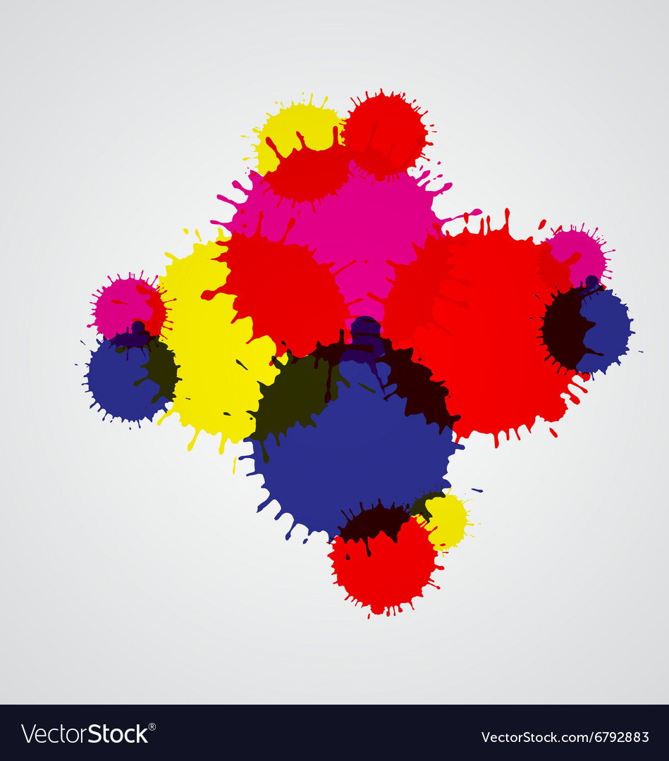 Paint splashes set for design use vector