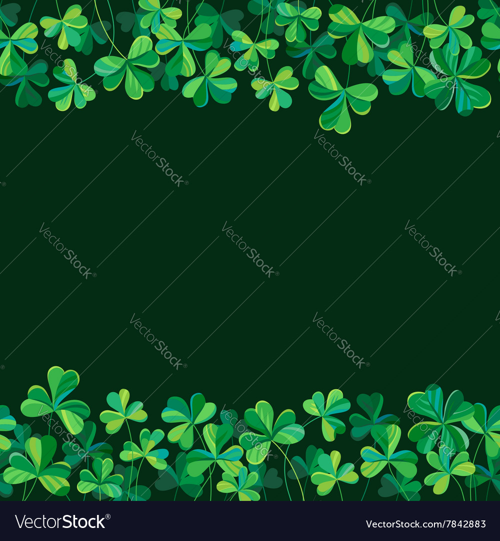 Pattern clover borders vector