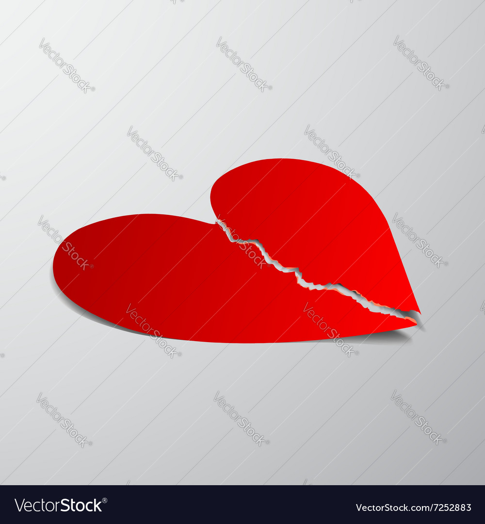 Red heart stock vector