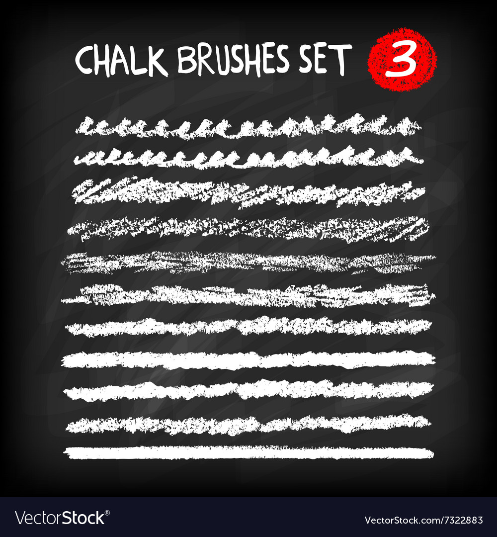 Set of chalk brushes vector