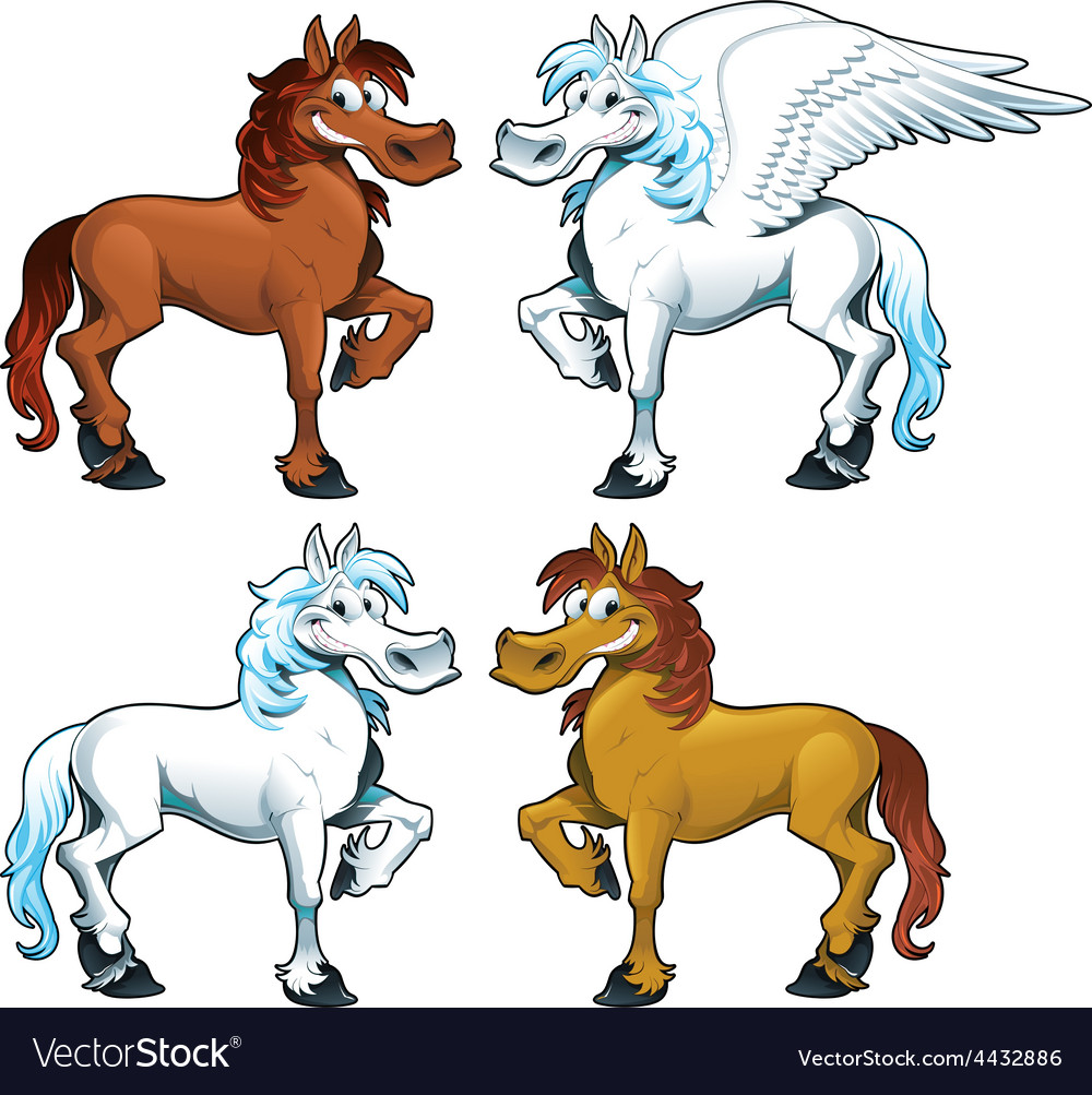 Family of horses and the pegasus vector