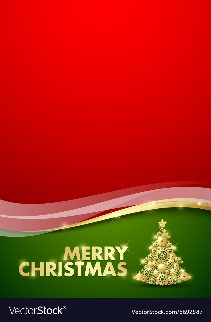 Merry christmas document template vector