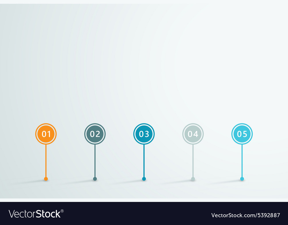 Timeline 3d infographic 1 vector
