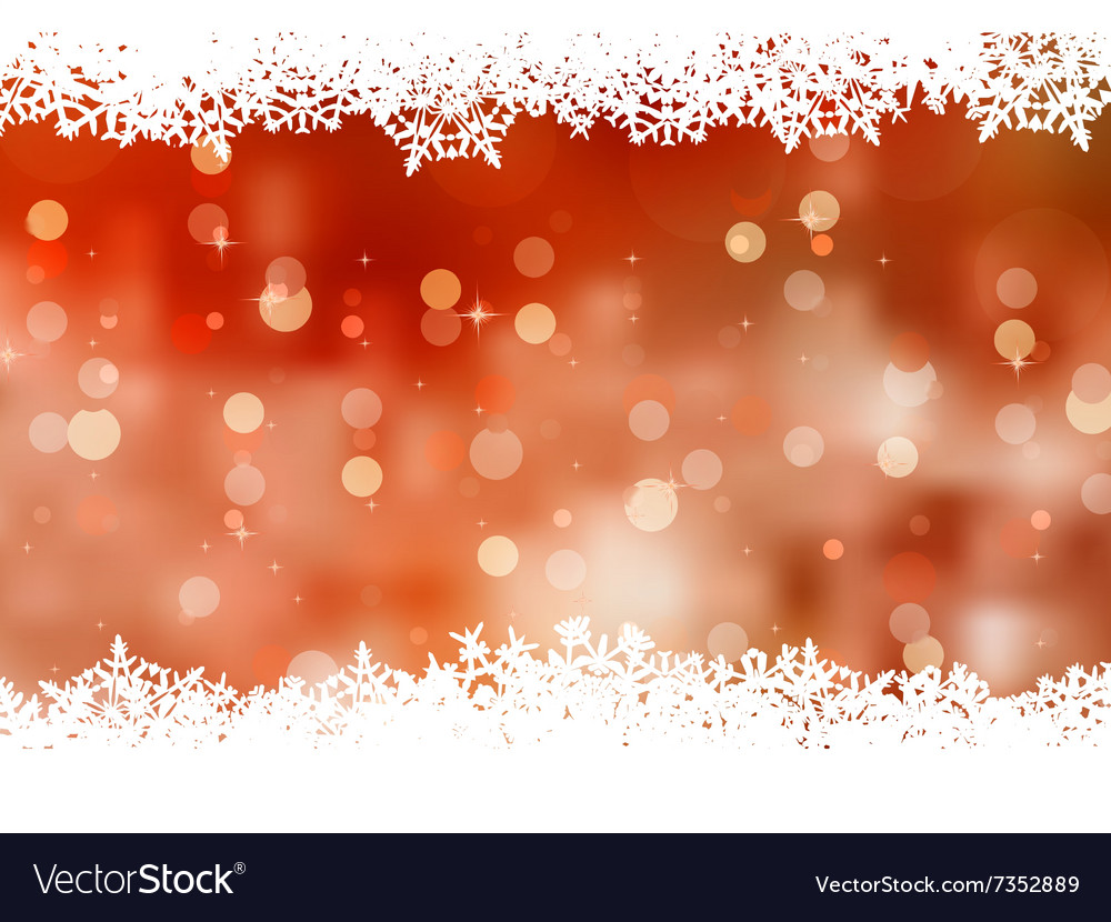 Orange background with snowflakes eps 8 vector