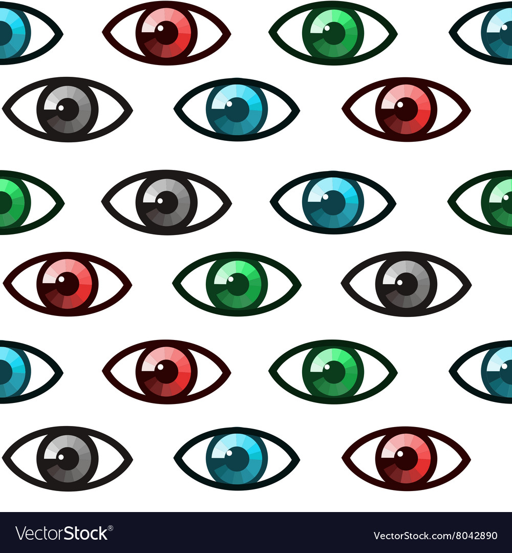 Eyes seamless vector