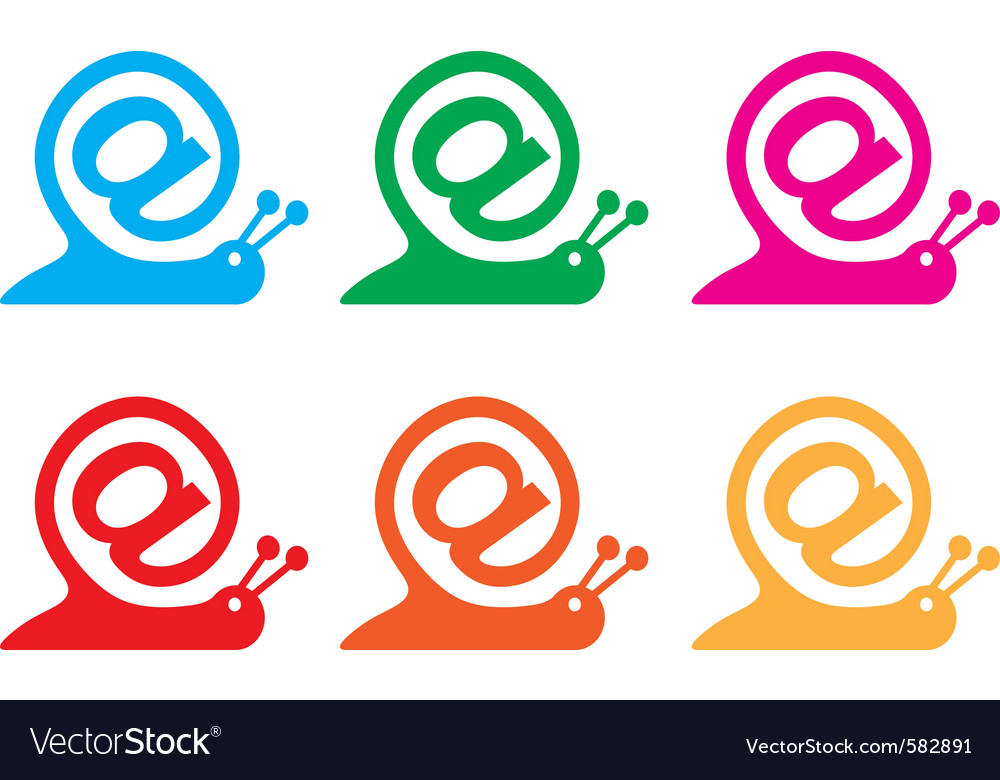Snail internet icon vector