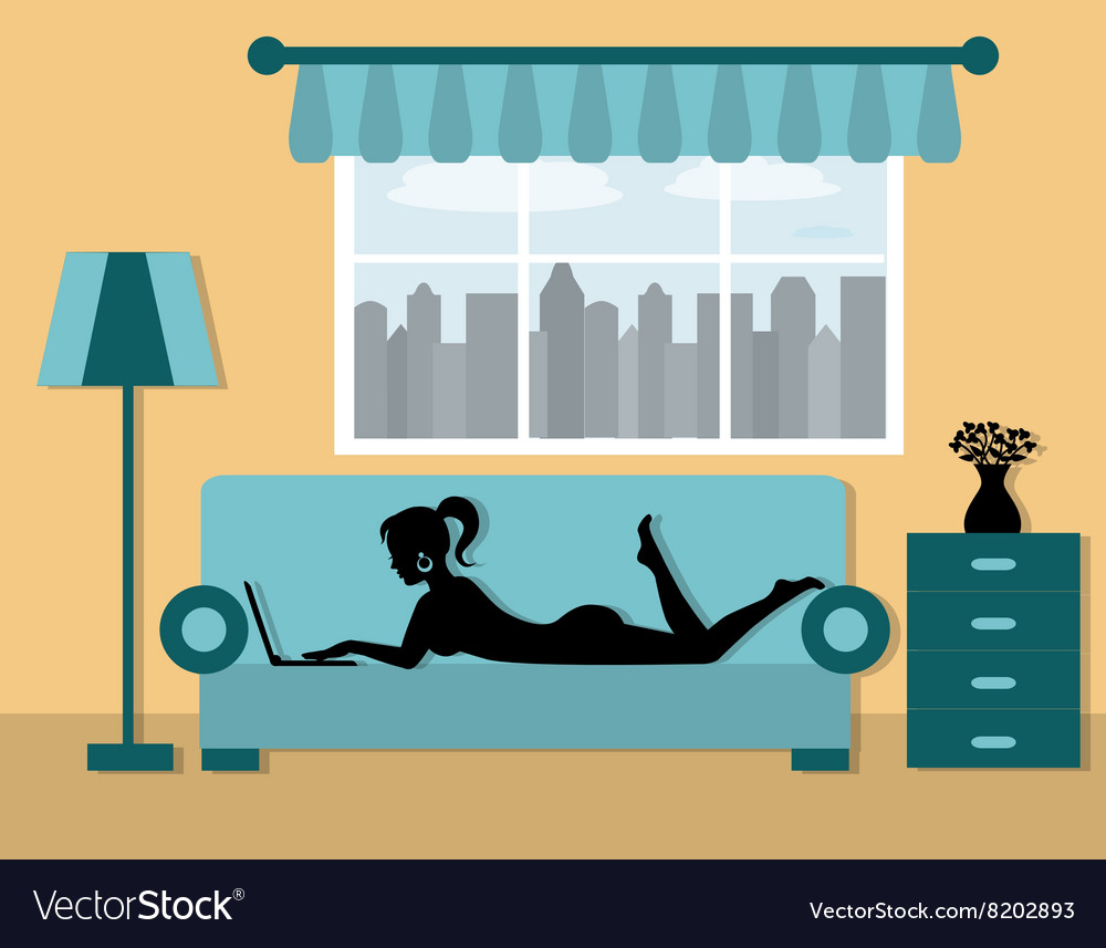 Vacation at home vector