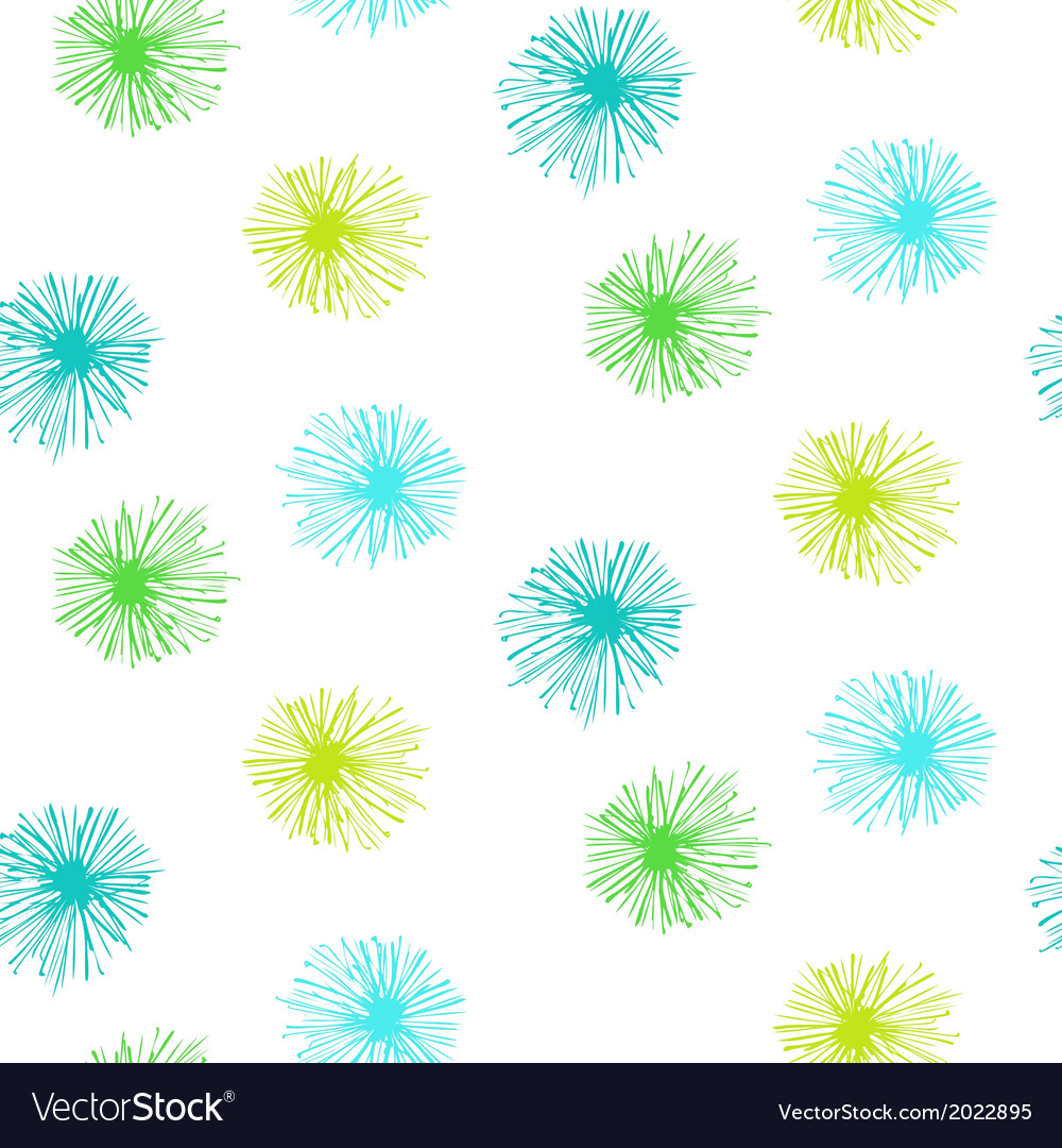 Seamless pattern with small furry flowers vector
