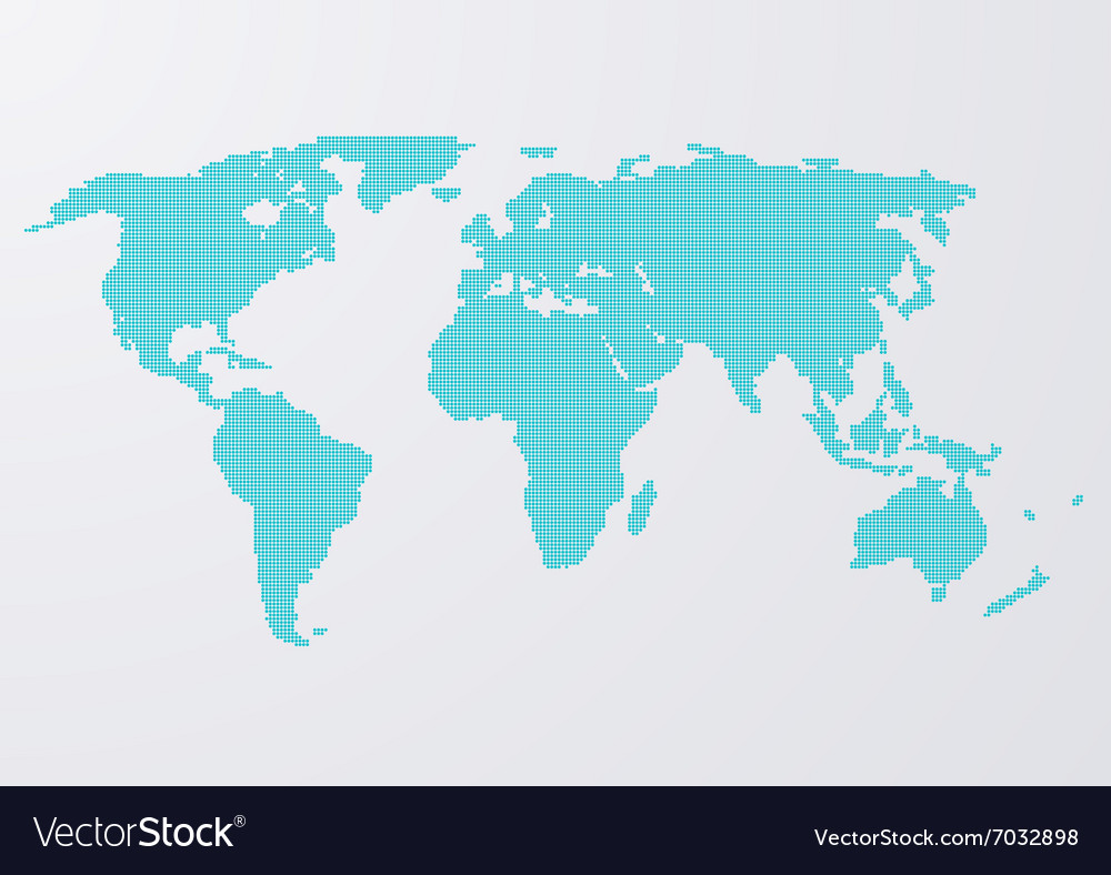 A world map circles vector