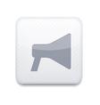 white loudspeaker icon Eps10 Easy to edit vector image vector image