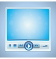 video player interface with glossy buttons vector image vector image