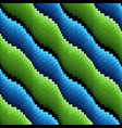 abstract seamless wavy blue and green stripes vector image