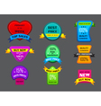 set of many different seals vector image