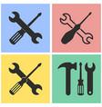 tool icon set vector image
