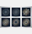 decorative mandala style backgrounds vector image vector image
