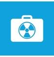 Radioactive bag icon simple vector image