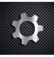 Industrial metal gear vector image