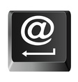 Button to enter the email vector image