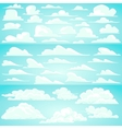 Collection of cartoon clouds vector image