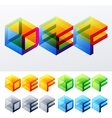 Colored text in isometric view vector image