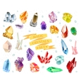Crystals and stones Isolated Set vector image