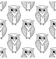 Cute little owl seamless pattern vector image