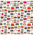 fashion bags seamless pattern vector image