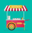 hot dog street cart vector image