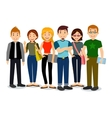 Set of diverse college or university students vector image