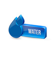 Water button vector image