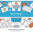 Line artMedical flat background Health care vector image