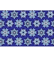 Ethnic blue seamless pattern vector image